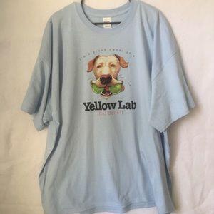 Yellow Lab Retriever Dog Humor T Shirt NEW NWOT